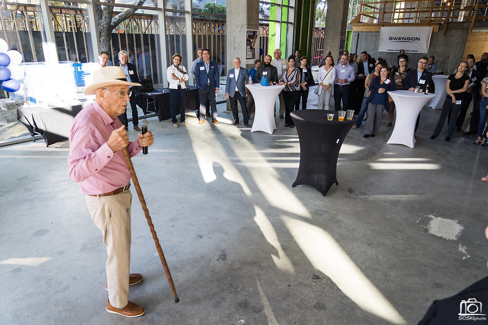 SWENSON owner, Barry Swenson, talks during SVBJ's BizMix presented by SWENSON at The Grad in Downtown San Jose, California, on July 31, 2019. (Stan Olszewski for Silicon Valley Business Journal)