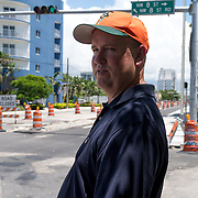 MIAMI, FLORIDA, JUNE 28, 2017<br /> Spencer Crowley, a land use lawyer with the Beckham group, leads a walk through the neighborhood where the proposed soccer stadium will be built.<br /> (Photo by Angel Valentin/Freelance)