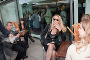 JERRY HALL, Opening of Love is what you want. Exhibition of work by Tracey Emin. Hayward Gallery. Southbank Centre. London. 16 May 2011. <br /> <br />  , -DO NOT ARCHIVE-© Copyright Photograph by Dafydd Jones. 248 Clapham Rd. London SW9 0PZ. Tel 0207 820 0771. www.dafjones.com.