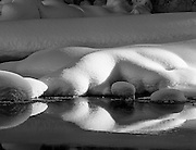 Black and White image of a snowy scene from Yoho National Park - British Columbia, Canada