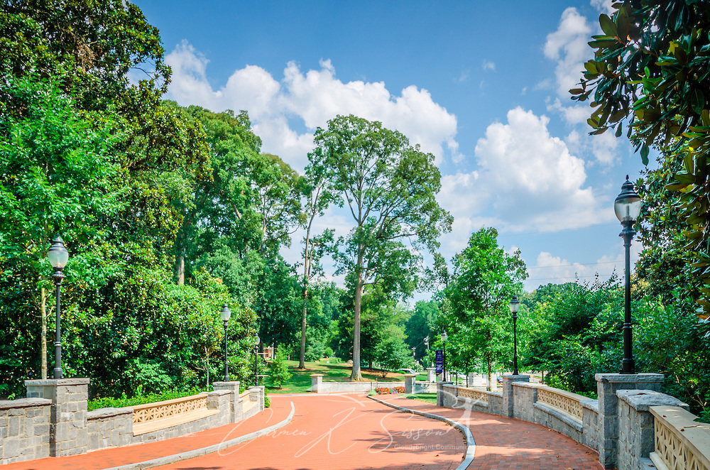 A winding driveway leads to Emory University, July 7, 2014, in Atlanta, Georgia. Emory was founded in 1836 and is a private research university and liberal arts college. It is consistently ranked as one of the best colleges in the United States. (Photo by Carmen K. Sisson/Cloudybright)