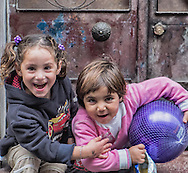 17/10/2013 - Istanbul - Tarlabasi area - Just two young girls playing outside and want me so much to take their photo.