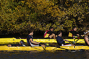 Boston, Massachusetts,  looking down the course, from the vendors area, as the crews approach the closing stages of the race at the Forty Second, [42nd] Head of the Charles, 22/10/2006.  Photo  Peter Spurrier/Intersport Images...[Mandatory Credit, Peter Spurier/ Intersport Images] Rowing Course; Charles River. Boston. USA