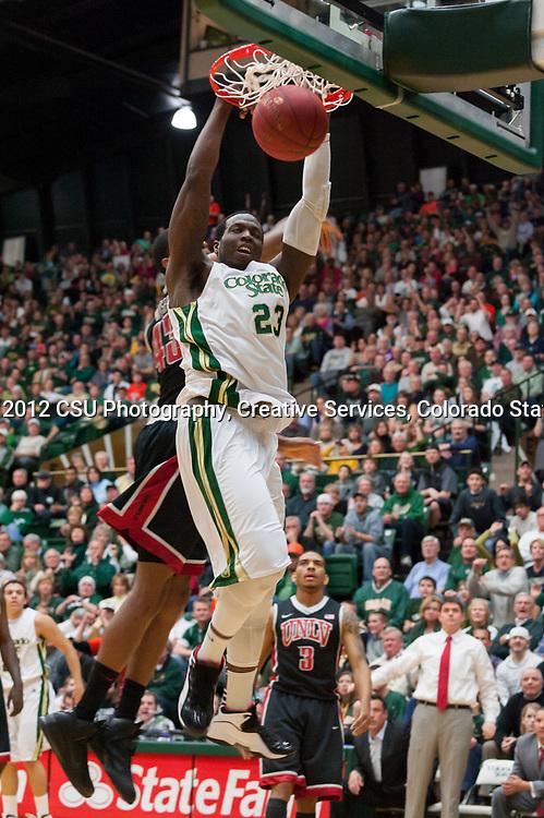 The Colorado State University Men's Basketball team wins over University of Nevada, Las Vegas 66 to 59, February 29, 2012.