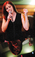 Leslie Beukelman singing with the band Trio at the Stetson at the Hyatt Regency in Chicago, IL..