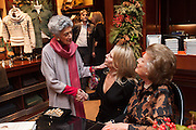 JAYA THADANI; WENDY KNATCHBULL; LADY PAMELA HICKS;  Book launch for ' Daughter of Empire - Life as a Mountbatten' by Lady Pamela Hicks. Ralph Lauren, 1 New Bond St. London. 12 November 2012.