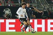 Leroy Sane of Germany battles with Jake Livermore of England during the International Friendly match between Germany and England at Signal Iduna Park, Dortmund, Germany on 22 March 2017. Photo by Phil Duncan.