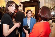 SAMANTHA CAMERON; LISA ARMSTRONG; , Smythson Royal Wedding exhibition preview. Smythson together with Janice Blackburn has commisioned 5 artist designers to create their own interpretations of  Royal wedding memorabilia. Smythson. New Bond St. London. 5 April 2011.  -DO NOT ARCHIVE-© Copyright Photograph by Dafydd Jones. 248 Clapham Rd. London SW9 0PZ. Tel 0207 820 0771. www.dafjones.com.