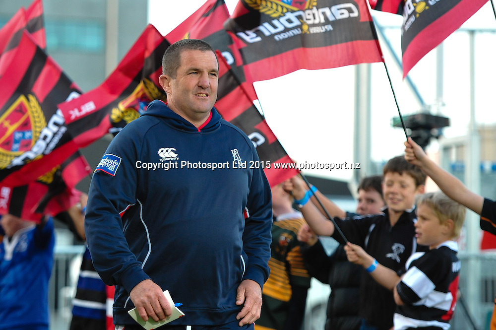 Auckland assitant coach Nick White during the ITM Cup Premiership Final rugby match, Canterbury V Auckland, at AMI Stadium, Christchurch, on the 24th October 2015. Copyright Photo: John Davidson / www.photosport.nz