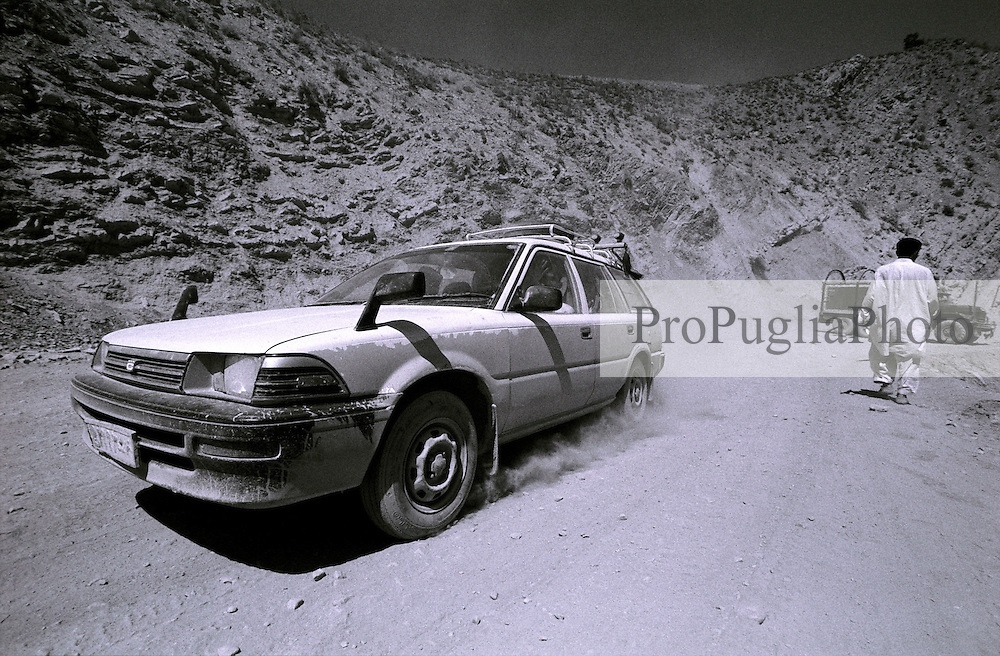 A taxi driver running his vehicle in Khost's region