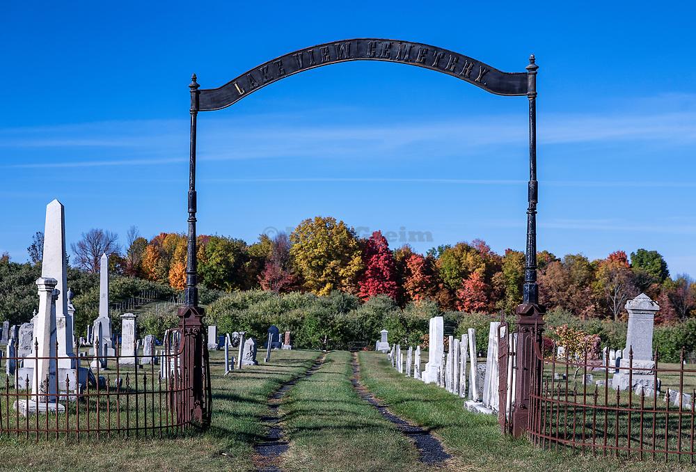 Lake View Cemetery, Shoreham, Vermont, USA.