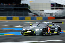 June 15, 2018 - Le Mans, Sarthe, France - Aston Martin Racing ASTON MARTIN Vantage AMR Driver PAUL DALLA LANA (CAN) in action during the 86th edition of the 24 hours of Le Mans 2nd round of the FIA World Endurance Championship at the Sarthe circuit at Le Mans - France (Credit Image: © Pierre Stevenin via ZUMA Wire)