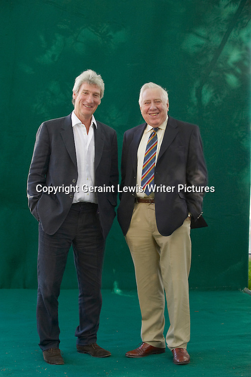 Jeremy Paxman, BBC Newsnight Presenter with Roy Hattersley former Labour MP at The Edinburgh International Book Festival 2009<br /> <br /> copyright Geraint Lewis/Writer Pictures<br /> contact +44 (0)20 822 41564<br /> info@writerpictures.com<br /> www.writerpictures.com