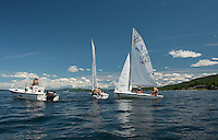 Lake Winnipesaukee Sailing enjoys a perfect day out on Lake Winnipesaukee Tuesday afternoon.  (Karen Bobotas/for the Laconia Daily Sun)