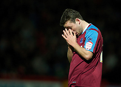 STEVENAGE, ENGLAND - Saturday, December 17, 2011: Tranmere Rovers' Jose Baxter looks dejected as his side lose 2-1 against Stevenage during the Football League One match at Broadhall Way. (Pic by David Rawcliffe/Propaganda)