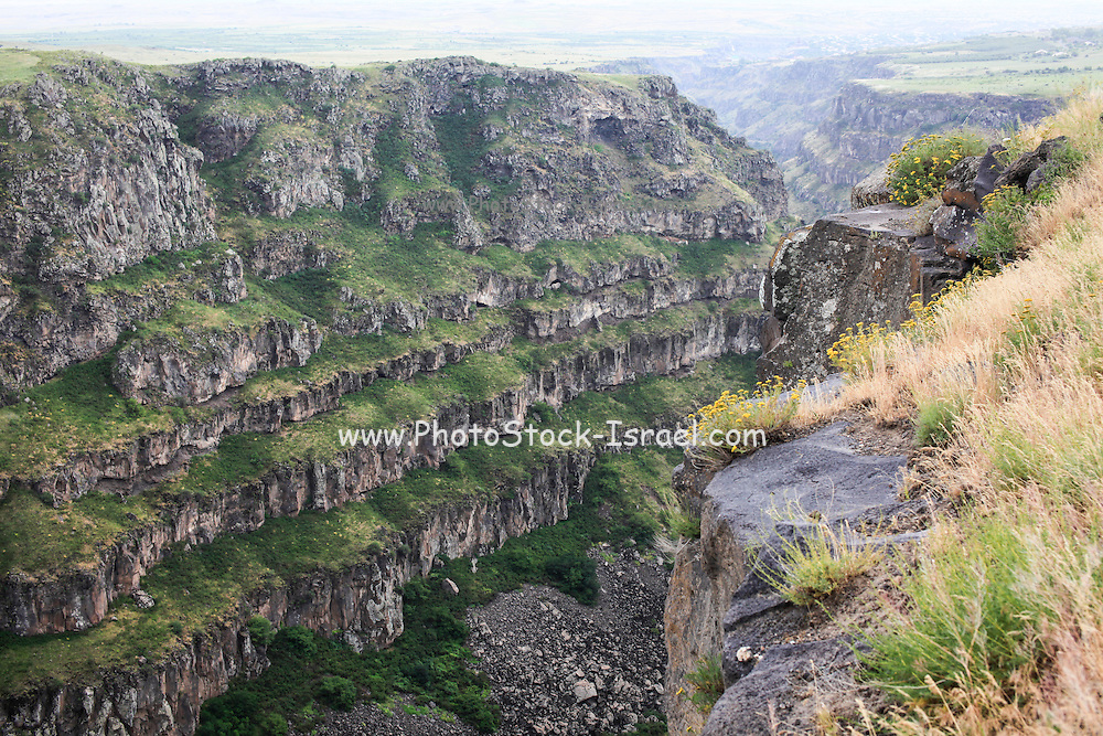 The landscape near Vahramashen Church (also commonly referred to as Surb Astvatsatsin or the Church of Amberd), Aragatsotn Province, Armenia