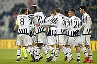 Esultanza giocatori Juventus dopo gol, goal celebration,<br /> Torino 16-12-2015, Juventus Stadium, Football Calcio 2015/2016 Coppa Italia, derby, Juventus - Torino, Foto Filippo Alfero/Insidefoto
