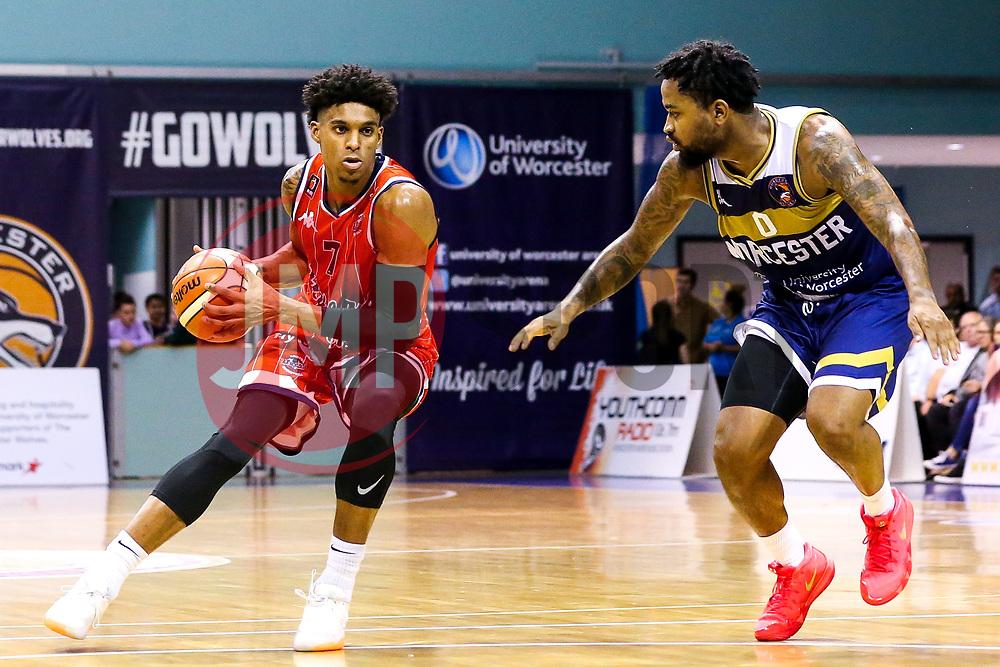 Justin Gray of Bristol Flyers - Mandatory by-line: Robbie Stephenson/JMP - 05/10/2018 - BASKETBALL - University of Worcester Arena - Worcester, England - Bristol Flyers v Worcester Wolves - British Basketball League