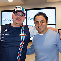 Liam Haugh from Ennis meeting Formula One Driver Felipe Massa