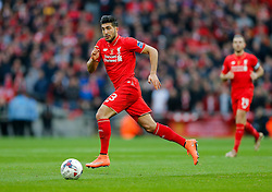 Emre Can of Liverpool in action - Mandatory byline: Rogan Thomson/JMP - 28/02/2016 - FOOTBALL - Wembley Stadium - London, England - Liverpool v Manchester City - Capital One Cup Final.