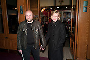 SIMON WHEELER; HERMIONE NORRIS, Press night of Cirque du Soleil's new show 'Totem' at The Royal Albert Hall.  London. January 5, 2011<br /> <br /> -DO NOT ARCHIVE-© Copyright Photograph by Dafydd Jones. 248 Clapham Rd. London SW9 0PZ. Tel 0207 820 0771. www.dafjones.com.