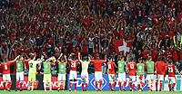 Esultanza Svizzera. Celebration Switzerland <br /> Lille 19-06-2016 Stade de Pierre Mauroy Footballl Euro2016 Switzerland - France / Svizzera - Francia Group Stage Group A. Foto Matteo Ciambelli / Insidefoto