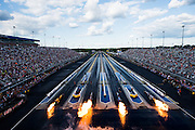 April 22-24, 2016: NHRA 4 Wide Nationals: Jet dragsters warm up their jet engines
