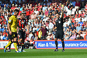 Referee Mark Clattenburg during the Barclays Premier League match between Bournemouth and Aston Villa at the Goldsands Stadium, Bournemouth, England on 8 August 2015. Photo by Mark Davies.