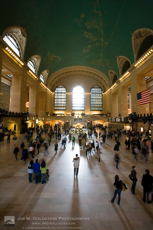 Commuters moving through New York city's Grand Central Station