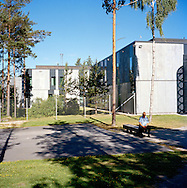 Halden Prison, Norway, June 2014:<br /> Residential building. (Cells).<br /> -- No commercial use --<br /> Photo: Knut Egil Wang/Moment/INSTITUTE