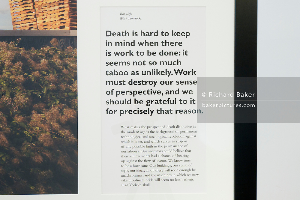 Specially selected text by Alain de Botton that accompanies a limited edition Lambda digital framed print created for an exhibition commissioned by and staged at The Museum of the History of Science in Oxford and including specially selected text by Alain de Botton from his 'The Pleasures and Sorrows of Work' book (Hamish Hamilton, 2009). <br />