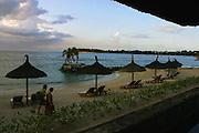 tourism, mauritius, republic, scene, sunset, sun, coconut trees, clouds, rock, sky, cloudy, beauty, islands, kids, children,