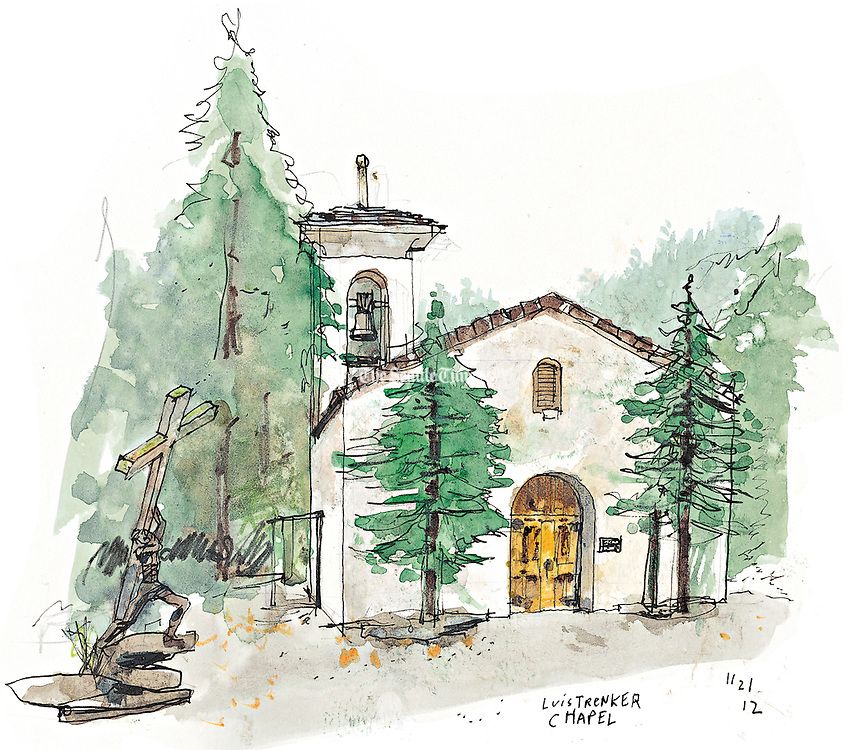 The High Alpine Chapel (also known as the Luis Trenker Chapel) is a replica of a 12th-century chapel.<br /> <br /> Gabriel Campanario / The Seattle Times