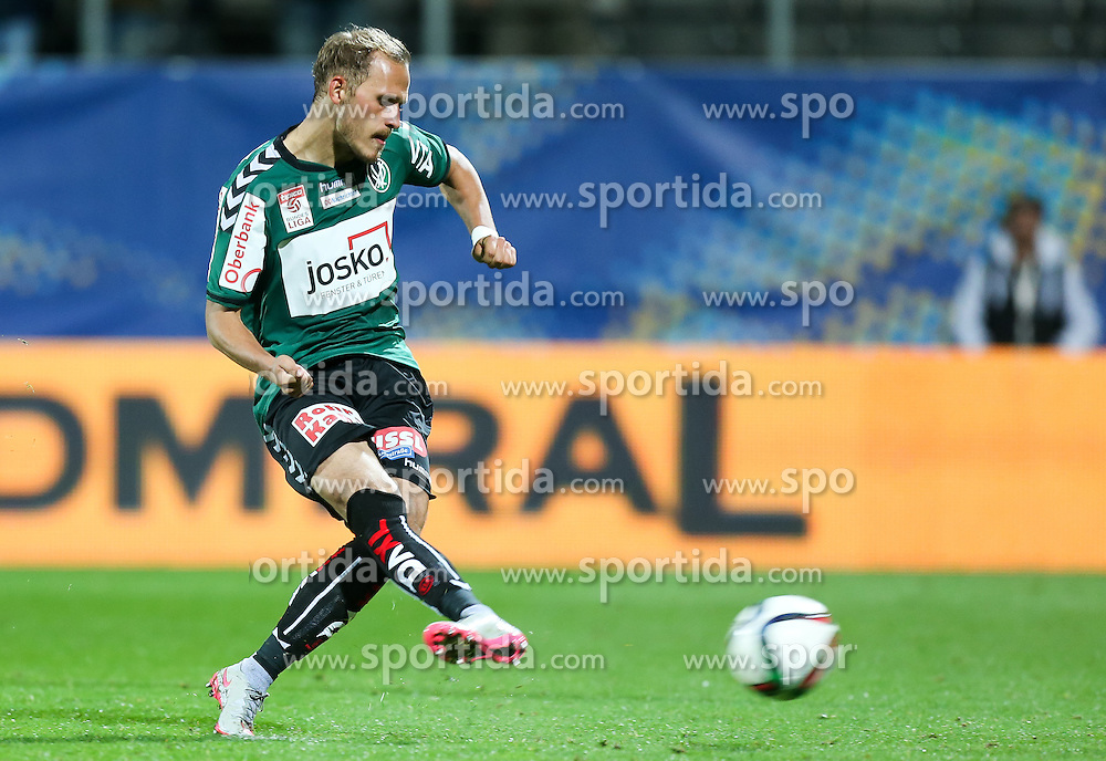 23.09.2015, Keine Sorgen Arena, Ried, AUT, OeFB Samsung Cup, SV Josko Ried vs RZ Pellets WAC, 2. Runde, im Bild Marcel Ziegl (SV Josko Ried) // during OeFB Cup, 2nd round Match between SV Josko Ried and RZ Pellets WAC at the Keine Sorgen Arena, Ried, Austria on 2015/09/23. EXPA Pictures © 2015, PhotoCredit: EXPA/ Roland Hackl