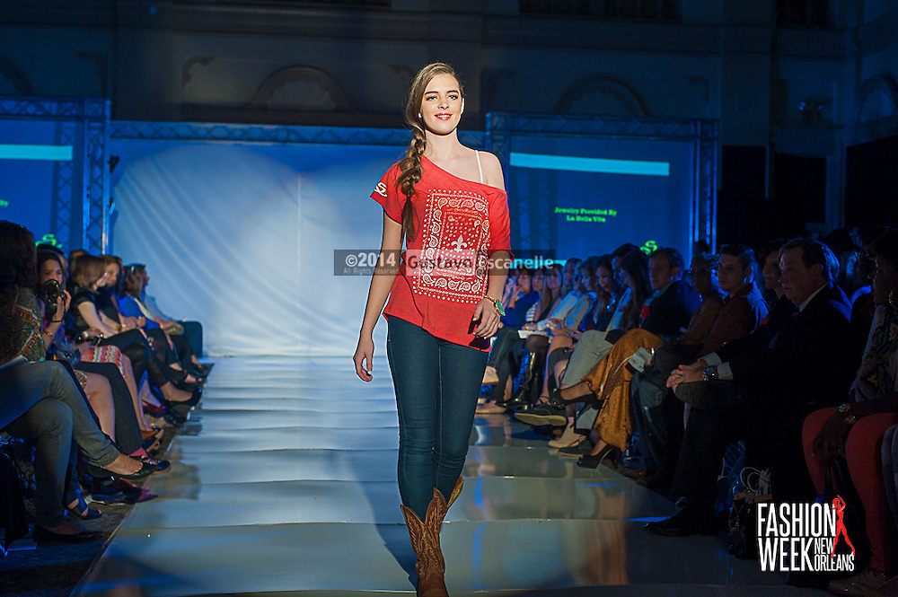 FASHION WEEK NEW ORLEANS: Southern Apparel show case there design on the runway at the Board of Trade, Fashion Week New Orleans on Wednesday March 19. 2014. #FWNOLA, #FashionWeekNOLA, #Design #FashionWeekNewOrleans, #NOLA, #Fashion #BoardofTrade, #GustavoEscanelle, #TraceeDundas , #romeyRoe, #DominiqueWhite . View more photos at <br /> http://Gustavo.photoshelter.com.