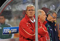 Football - soccer: FIFA World Cup South Africa 2010, Italy (ITA) - Paraguay (PRY), L' ALLENATORE DELLA NAZIONALE ITALIANA MARCELLO LIPPI
