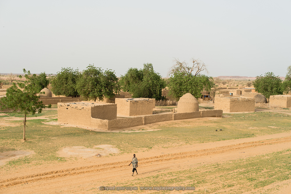 A view of homesteads in the village of Gadirga in the Commune of Soukoukoutan in the Dosso Region of Niger on 23 July 2013.