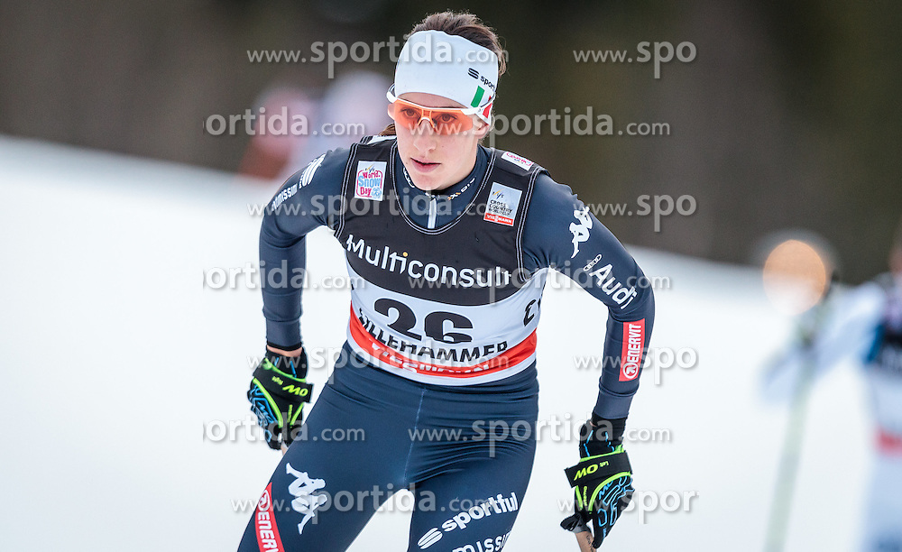 05.12.2015, Nordic Arena, NOR, FIS Weltcup Langlauf, Lillehammer, Damen, im Bild Virginia de Martin Topranin (ITA) // Virginia de Martin Topranin of Italy during Ladies Cross Country Competition of FIS Cross Country World Cup at the Nordic Arena, Lillehammer, Norway on 2015/12/05. EXPA Pictures © 2015, PhotoCredit: EXPA/ JFK