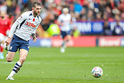Preston North End forward Tom Barkhuizen (29) during the EFL Sky Bet Championship match between Charlton Athletic and Preston North End at The Valley, London, England on 3 November 2019.