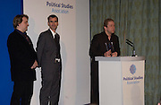 John Culshaw and Dead Ringers colleagues receives award for best Political Satire, Political Studies Association Awards 2004. Institute of Directors, Pall Mall. London SW1. 30 November 2004.  ONE TIME USE ONLY - DO NOT ARCHIVE  © Copyright Photograph by Dafydd Jones 66 Stockwell Park Rd. London SW9 0DA Tel 020 7733 0108 www.dafjones.com