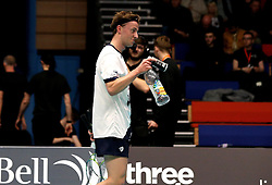 Alex Lane of Bristol Jets celebrates winning his match against Team Derby - Photo mandatory by-line: Robbie Stephenson/JMP - 07/11/2016 - BADMINTON - University of Derby - Derby, England - Team Derby v Bristol Jets - AJ Bell National Badminton League