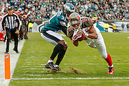 PHILADELPHIA, PA - NOVEMBER 22: Running Back Charles Sims #34  of the Tampa Bay Buccaneers during the game against the Philadelphia Eagles at Lincoln Financial Field on November 22, 2015, in Philadelphia, Pennsylvania. The Buccaneers won 45-17. (photo by Mike Carlson/Tampa Bay Buccaneers)