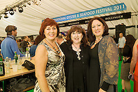Patricia Quinnlan Renmore, Anne Khan , Kilkenny and Alison Bowyer, Waterford at the 57th Galway International  Oyster Festival. Photo:Andrew Downes.
