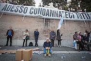 2013/03/23 Roma, manifestazione del PDL Popolo della Liberta'. Nella foto alcuni manifestanti.<br /> Rome, Popolo della Liberta' (reading The Peolple of Freedom Party) demo. In the picture some supporters under a banner reading ' and now condemn us immediately ' - &copy; PIERPAOLO SCAVUZZO