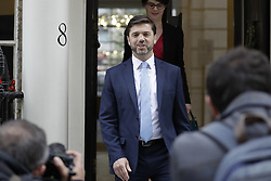 © Licensed to London News Pictures. 29/06/2016. London, UK. Secretary of State for Work and Pensions STEPHEN CRABB MP leaves a press conference after announcing his intention of running for party leader on June 29, 2016. Contenders to succeed David Cameron have until noon on Thursday to come forward, with a winner expected to be announced by 2 September.  Photo credit: Peter Macdiarmid/LNP