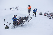 Vintage snowmobiling in the Icelandic Highlands