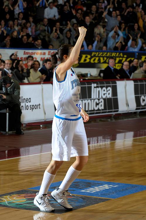 DESCRIZIONE : Venezia Additional Qualification Round Eurobasket Women 2009 Italia Croazia<br /> GIOCATORE : Giorgia Sottana<br /> SQUADRA : Nazionale Italia Donne<br /> EVENTO : Italia Croazia<br /> GARA :<br /> DATA : 10/01/2009<br /> CATEGORIA : Esultanza<br /> SPORT : Pallacanestro<br /> AUTORE : Agenzia Ciamillo-Castoria/M.Gregolin