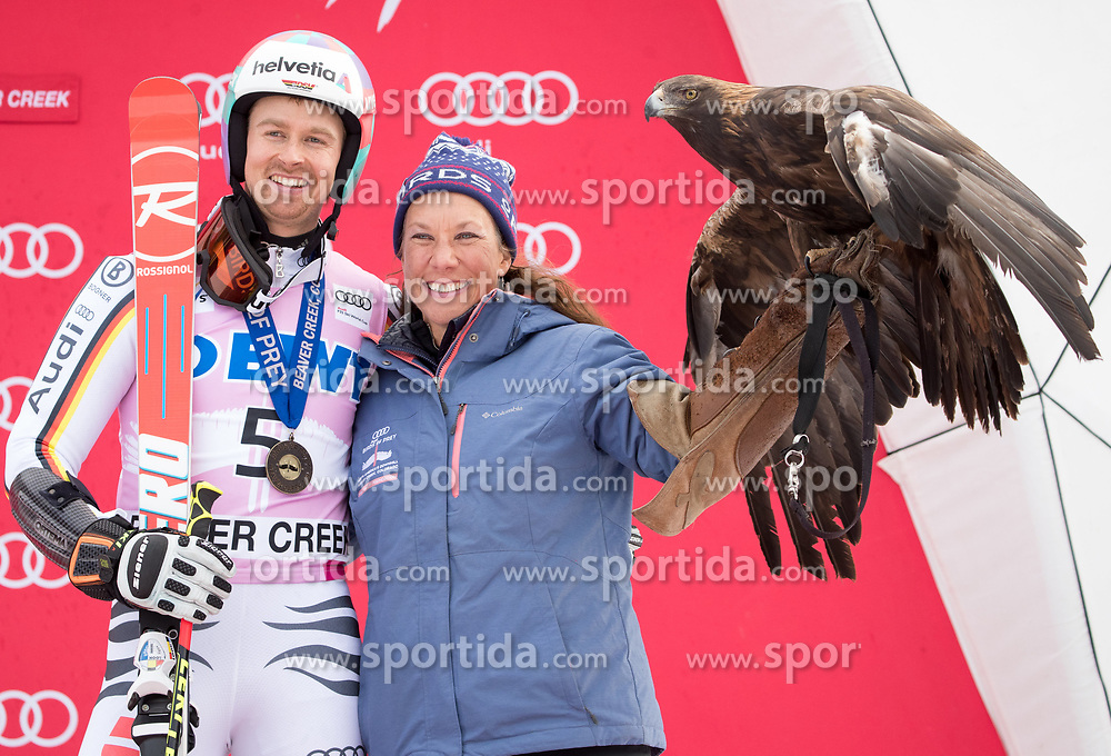 03.12.2017, Beaver Creek, USA, FIS Weltcup Ski Alpin, Beaver Creek, Riesenslalom, Herren, Siegerehrung, im Bild Stefan Luitz (GER, 3. Platz) // third placed Stefan Luitz of Germany during the winner Ceremony for the men's Giant Slalom of FIS Ski Alpine World Cup in Beaver Creek, United Staates on 2017/12/03. EXPA Pictures © 2017, PhotoCredit: EXPA/ Johann Groder