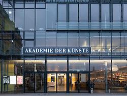 Exterior of Akademie der Künste - Academy of Arts in Pariser Platz , Berlin, Germany