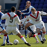 St Johnstone v Airdrie United..23.04.05<br />Marvyn Wilson battles with Paul Sheerin<br /><br />Picture by Graeme Hart.<br />Copyright Perthshire Picture Agency<br />Tel: 01738 623350  Mobile: 07990 594431